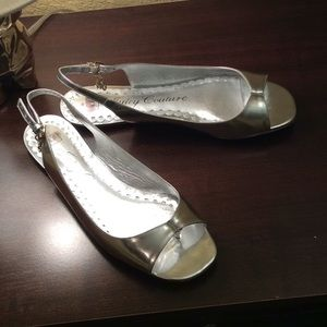Silver Juicy Couture Sandals
